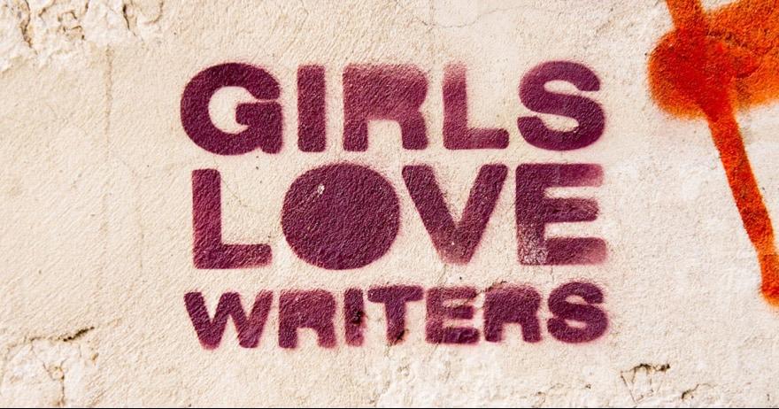 בנות אוהבות כותבים - גרפיטי אילוסטרציה