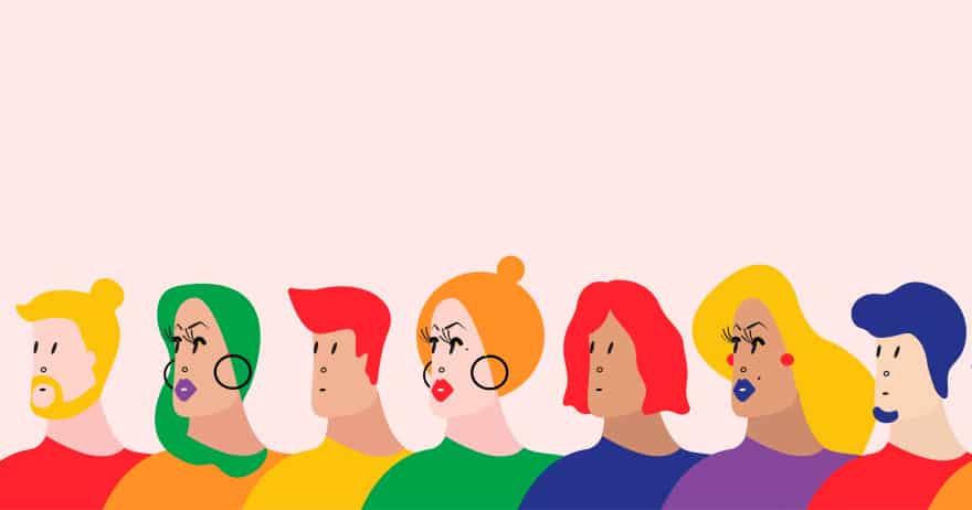 איור המציג קבוצה מגוונת של אנשים היוצרים קהילה צבעונית (צילום: rawpixel / CC0)
