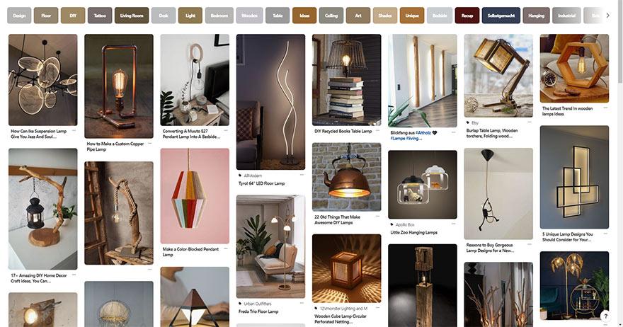 חיפוש מוצר בפינטרסט (צילום מסך)