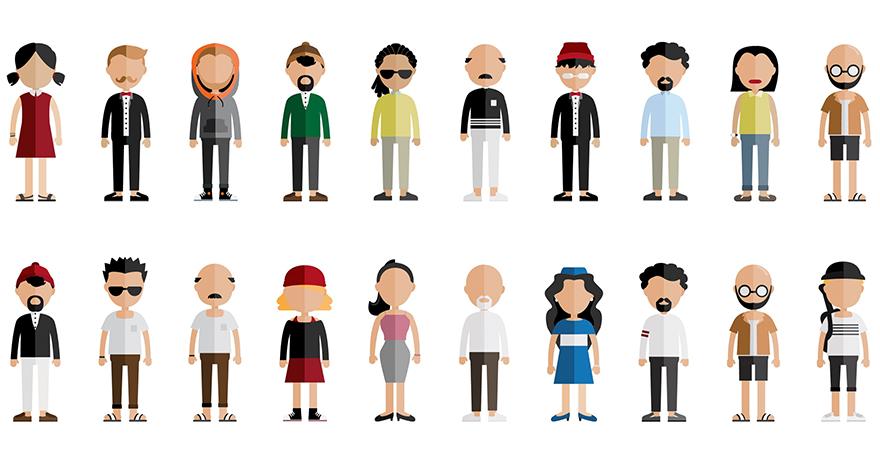 קבוצה של אנשים מאויירים (CC0)