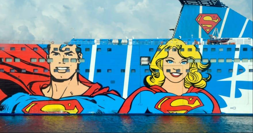 גיבורי על מצויירים על ספינה (אילוסטרציה) (CC0)